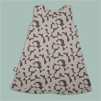 MAYAYA שמלת גופייה (2-14 שנים) אפור הדפס פאזל
