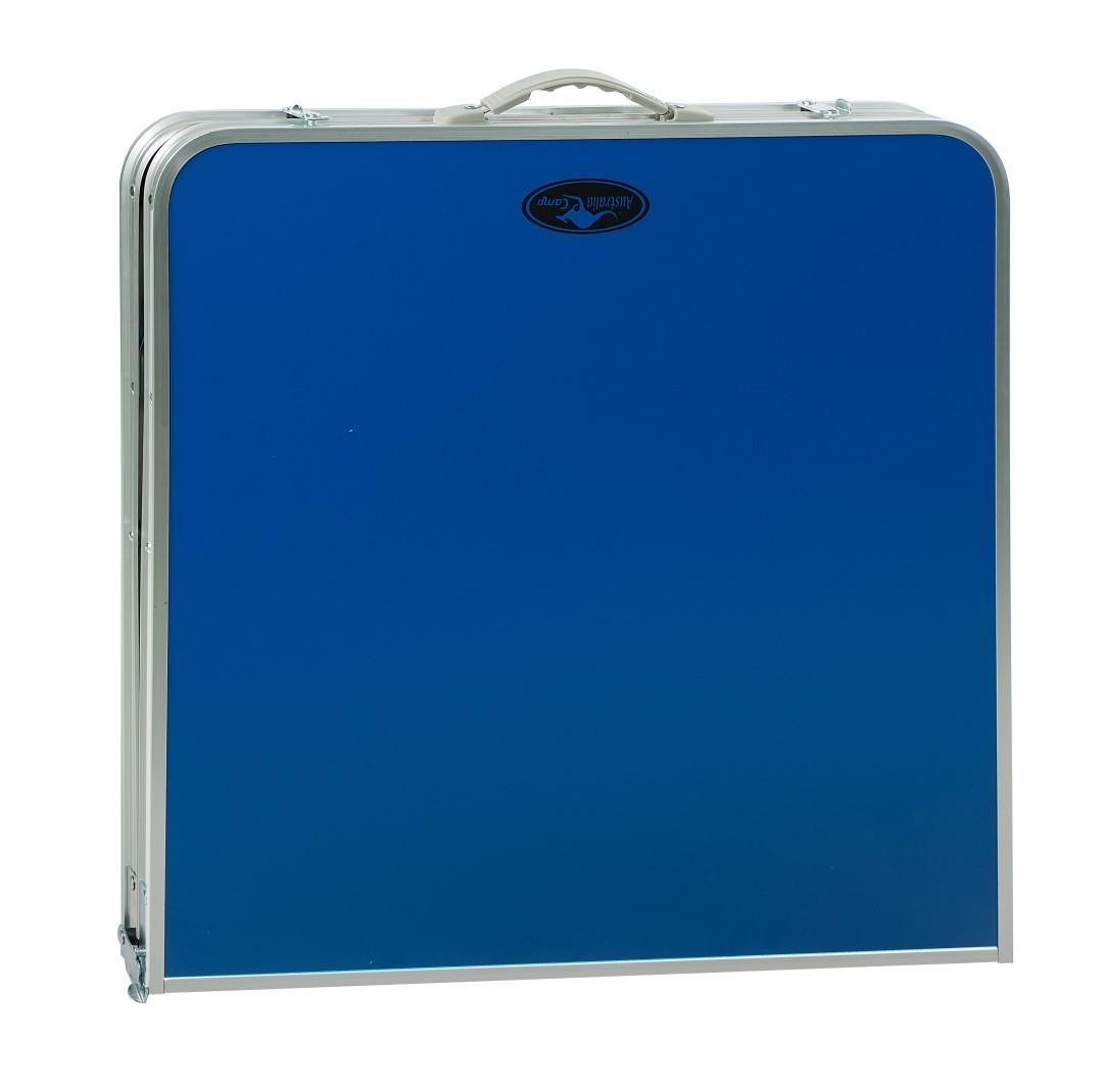 שולחן קמפינג ממתכת ומסגרת אלומיניום איכותי מתקפל למזוודה + ידית נשיאה Australia Camp  - תמונה 3
