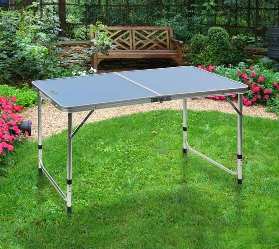 שולחן קמפינג ממתכת ומסגרת אלומיניום איכותי מתקפל למזוודה + ידית נשיאה Australia Camp  - תמונה 4