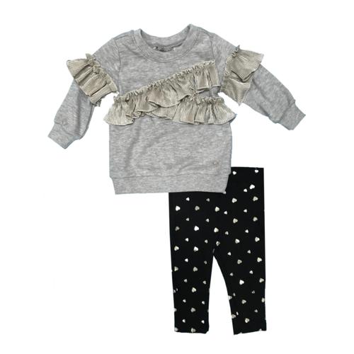 Calvin Klein חליפת איקס זהב (24-12 חודשים) - אפור זהב