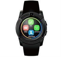 שעון יד עגול ויוקרתי משולב טלפון חכם עצמאי עם כרטיס SIM