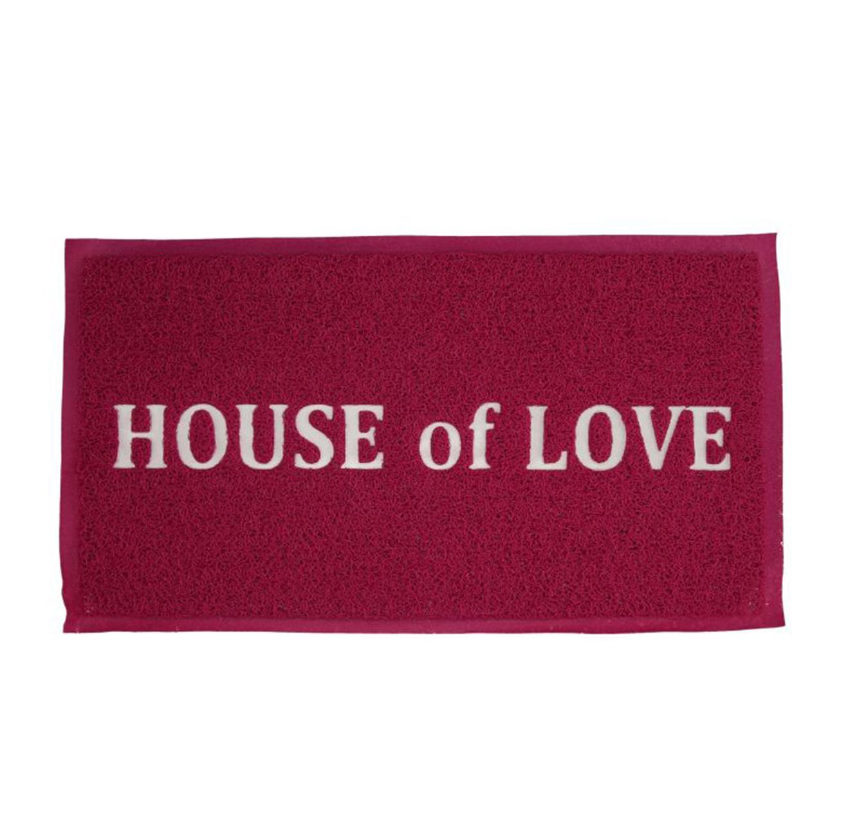 שטיח מעוצב לדלת הכניסה לבית דגם HOUSE of LOVE בצבעים לבחירה - תמונה 2