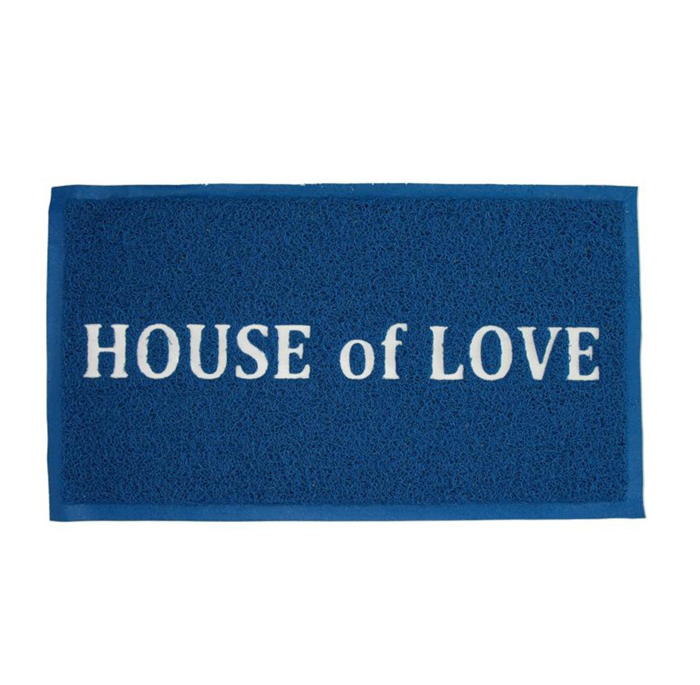 שטיח כניסה לבית דגם HOUSE of LOVE בצבעים לבחירה