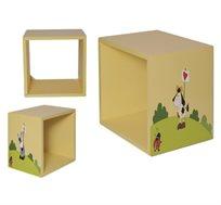 כוורת לעיצוב חדר הילדים עם ציור בצבעי אקריל