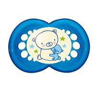זוג מוצצי סיליקון 6+ דגם לילה - זוהרים בחושך MAM + קרם ניוואה לתינוק במחיר מיוחד