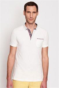חולצת פולו לגבר DEVRED דגם 4186246 בצבע לבן