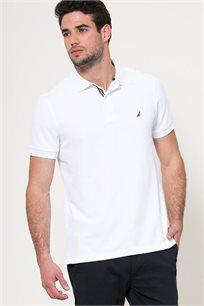 חולצת פולו לגברים - לבן