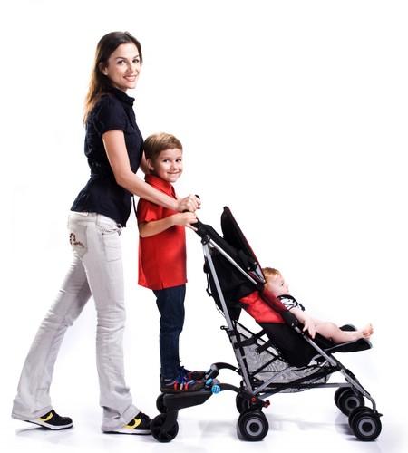 טרמפיסט Xl לעגלה Buggyboard-Maxi בשחור/אפור
