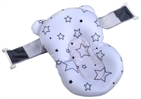 צף-קל - כרית אמבטיה לתינוק רצועות אבטחה - לבן כוכבים