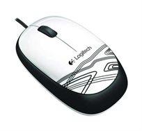 עכבר  Logitech בעל עיצוב נוח ודיוק אופטי עם חיישן אופטי בעל רזולוציה של עד 1000DPI לשליטה חלקה