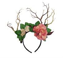 קשת לתחפושת איילה דגם פרחים מפואר