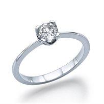 """טבעת אירוסין זהב לבן """"מרילין"""" 0.41 קראט F/SI1"""
