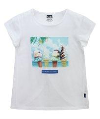חולצת סינגל  עם פץ מודפס