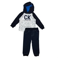 calvin klein חליפת קפוצון (4-2 שנים) - כחול כהה