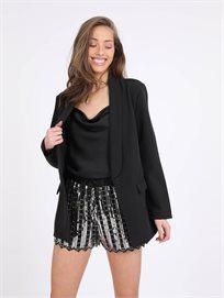 מכנסיים קצרים קימברלי שחור כסף סטייל ריבר