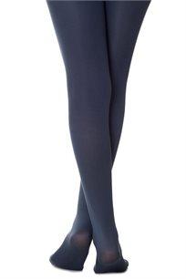 גרביון חלק אטום Zohara בצבע כחול אפור