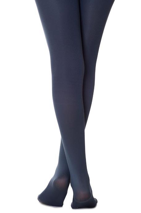גרביון חלק אטום Zohara - כחול אפור