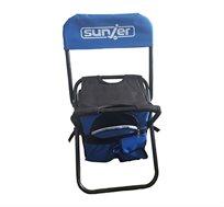 זוג כיסאות קמפינג לשטח ולים לילדים בשילוב ציידנית לשמירה על האוכל והשתיה Sunjer