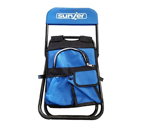 זוג כיסאות קמפינג לשטח ולים לילדים בשילוב ציידנית לשמירה על האוכל והשתיה Sunjer - תמונה 3