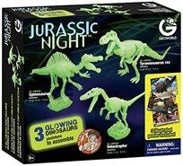 3 דינוזאורים להרכבה זוהרים בחושך