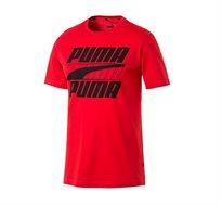 חולצת טי קלאסית דגם L85415011 לגברים - אדום