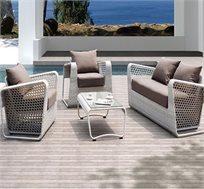 מערכת ישיבה Fusion הכולל 2 כורסאות יחיד + כורסה זוגית ושולחן קפה