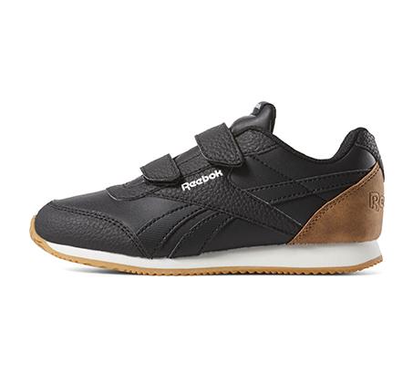 נעלי סניקרס לילדים Reebok Royal CLJog 2 2V - שחור/לבן/חום