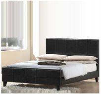 מיטה זוגית מעוצבת GAROX כוללת מזרן מעור אמיתי דגם MORETI