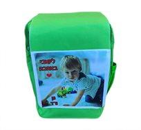 תיק גב ילדים עם קלפה + הדפסת תמונה על התיק