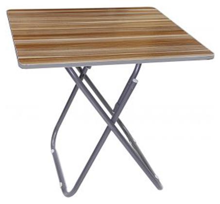 שולחן קומפקטי מתקפל בצבע עץ לשימוש בתוך הבית ובחוץ - תמונה 2