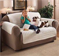 כיסוי דו צדדי לסלון עשוי 100% פוליאסטר לספת יחיד או ספה זוגית לבחירה