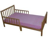מיטת מעבר מחוזקת בעלת 6 רגליים שחר בצבע עץ טבעי