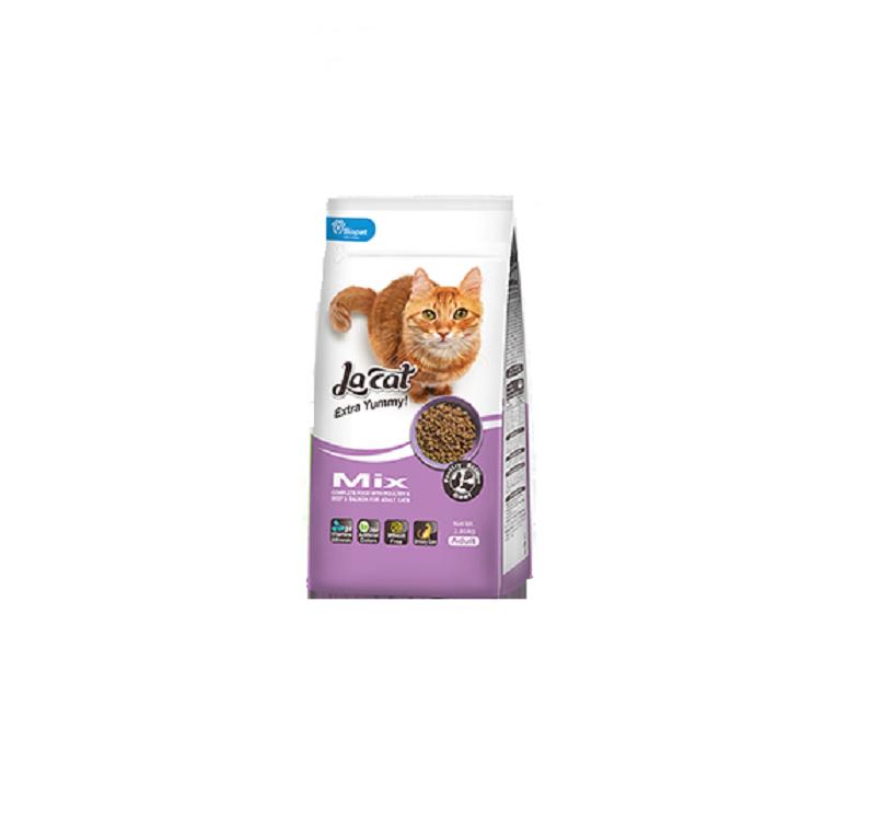 מזון לחתולים בוגרים להקט מיקס 7.2+1.5 ק''ג La Cat