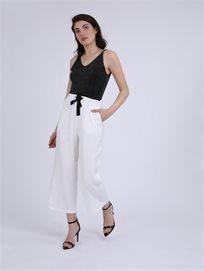 מכנסיים ארוכים דומיניק לבן סטייל ריבר