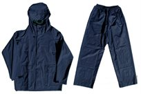 חליפת גשם מקצועית הכוללת מכנס וחולצה ONE SIZE בצע כחול לרוכבי אופניים ואופנועים