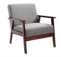 כורסא בעיצוב אלגנטי דגם GALIFE עם ידיות ורגלים מעץ BRADEX