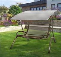 נדנדה לגינה עם 3 מקומות ישיבה מרופדות עם שלדת פלדה חזקה דגם לוגאנו Australia Camp