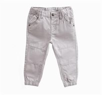 מכנסי טוויל לתינוקות וילדים בצבע אפור בהיר