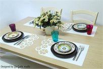 אור, אווירה, שמחה ועניין לשולחן! סט של 4 יח' פלייסמנט שולחני, מיוחד וחדשני!