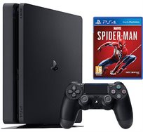 PS4 500G CONSOLE SLIM כולל 2 בקרים + משחק מתנה ספידרמן החדש + ערכת טעינה