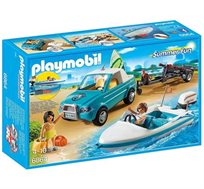 רכב עם נגרר, סירת מירוץ וציוד גלישה פליימוביל