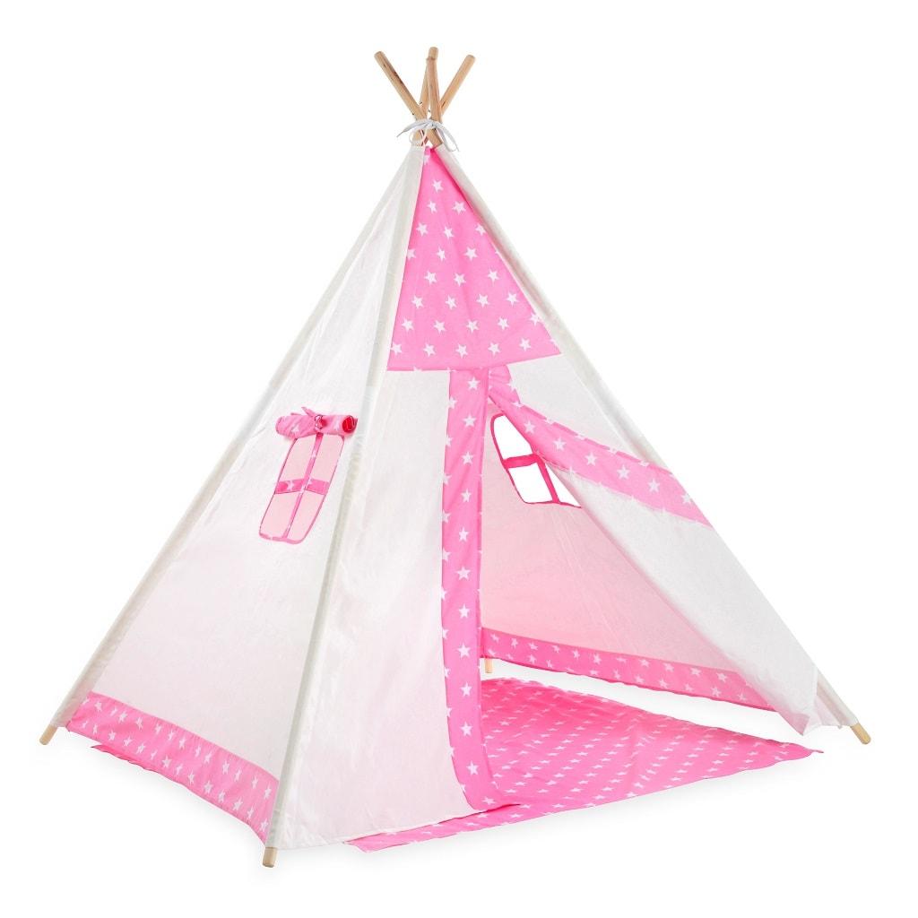 אוהל טיפי כוכב ורוד