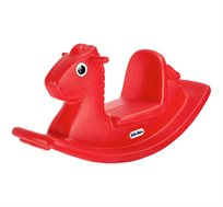 נדנדת סוס אדומה לילדים המתאימה לחצר או לבית little tikes