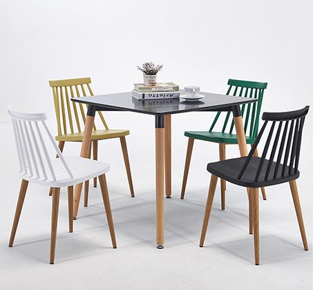 כסא לפינת אוכל בעיצוב מודרני עם מושב ורגלי ועץ בצבעים לבחירה  - תמונה 4