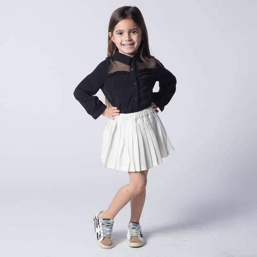 Oro חצאית פליסה לבן (7-2 שנים)