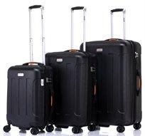 JEEP MIAMI סט 3 מזוודות קשיחות שחור