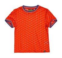 חולצת תחרה קצרה Ayesha Lace לנשים - כתום