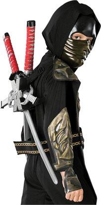זוג חרבות סכינים וכוכבים במתקן גב