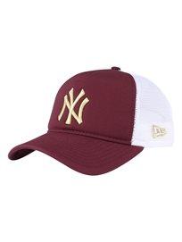 New Era יוניסקס// כובע Faessential Trucker Burgundy