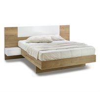 מיטה זוגית בעיצוב מודרני בשילוב שידות תלויות Rosseto online